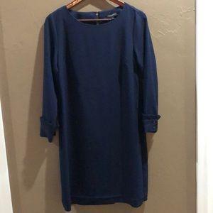 Blue Banana Republic long sleeve shift dress